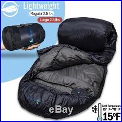 Jian Life Time Warranty Down sleeping bag-15 F 4 Season lightweight Sleeping Bag