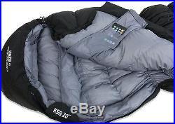 KLYMIT KSB 20 degree DOWN Sleeping Bag BLACK with stretch baffles REFURBISHED