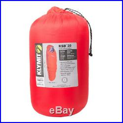 KLYMIT KSB 20 degree DOWN Sleeping Bag RED with stretch baffles BRAND NEW