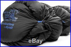 KLYMIT KSB OVERSIZED 20 degree DOWN Sleeping Bag BLACK with stretch baffles NEW