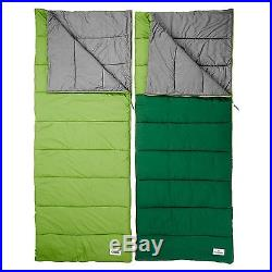 Kathmandu Tardis Zip Together Double Insulated Camping Sleeping Bag Green