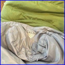 Kelty Cosmic Down 20 Degree Men Goose Down Backpacking Sleeping Bag Warm Green