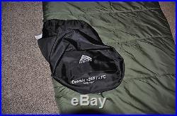 Kelty Cosmic Down 20 Sleeping Bag Long Right Backpacking 3 Season Green/Gray
