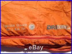 Kelty Ignite DriDown 0-Degree Sleeping Bag, Orange, Right Zipper, Long 6-ft 6-in