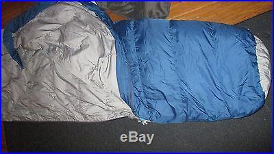 Kelty Light Trekker Down 20 degree sleeping bag True Blue USED 550 fill power