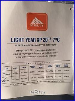 Kelty Light Year XP 20 Degree Long Sleeping Bag