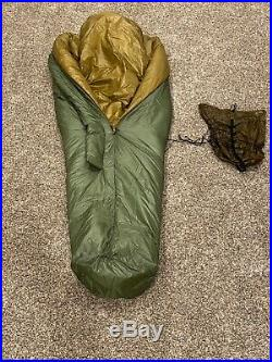 Kifaru 0° long slick bag (sleeping bag) with large 5 string stuff sack
