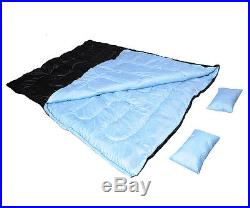 Large 2 Person 86 x 60 W /2 Pillows Double Sleeping Bag 32F/-5? Camping Hiking