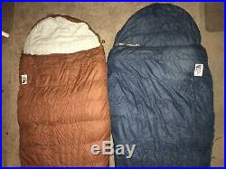 Lot Of 2 The North Face Super Light 0 Degree Sleeping Bag Goose Down USA w Bag