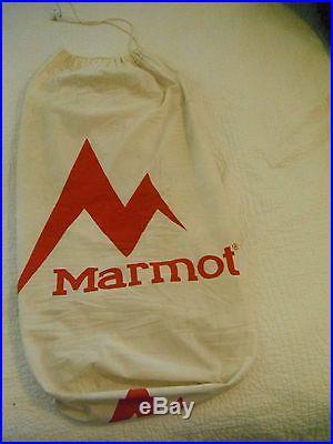 MARMOT COULOIR DL SLEEPING BAG 0F/-18C 800 DOWN FILL POWER