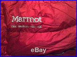 MARMOT CWM MEMBRAIN -40 800 FILL NWT Size Long 6'6
