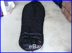 MARMOT DOWN SLEEPING BAG 900 GOOSE DOWN FILL 30F HYDROGEN LONG