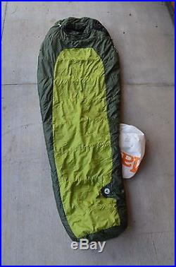 MARMOT EcoPro 30F SYNTHETIC Fill SLEEPING BAG / Regular Left Zip Green