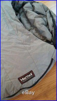 MARMOT Gopher -20F Gore-tex Down Sleeping Bag LONG Left Zip Excellent Condition