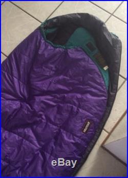 MARMOT Mistral Regular Sleeping Bag Mummy Bag Purple Backpacking