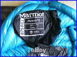 MARMOT PLASMA 15F/-9C 875 DOWN FILL LONG-LZ SLEEPING BAG