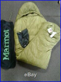 MARMOT ULTRALIGHTWEIGHT HYDROGEN 30 DEGREE Sleeping Bag Citron/Olive