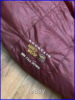 MOUNTAIN HARDWARE Phantom 32 Sleeping Bag 800 Down Fill Reg RZ EX COND