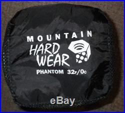 Mountain Hardwear Phantom Sleeping Bag Reg Left Zip 32 New 800-fill Q. Shield