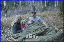 Mammoth Sleeping Bag Cold Weather Thermal Flannel Lined Queen Family Camp Gear