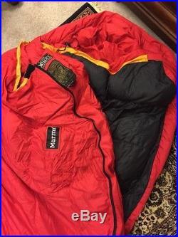 Marmot CWM -40 Degree 775 Down Fill Long Sleeping Bag Unused