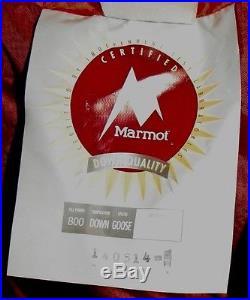 Marmot Col MemBrain Sleeping Bag -20 F, 800 down fill sleeping bag Never Used