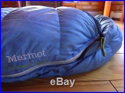 Marmot Helium/Xenon/Lithium 0-15 850 fill Down Sleeping Bag Excellent Condition