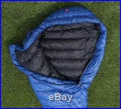 Marmot Helium sleeping bag long, 900-fill down, blue
