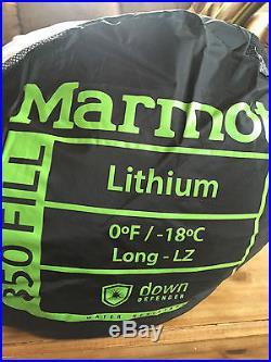 Marmot Lithium 0 Degree 850 Down Fill Sleeping Bag Long