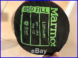 Marmot Lithium 0 Degree Down Sleeping Bag FREE SHIPPING