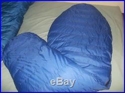 Marmot Mountain Works Ptarmigan 0 Goose Down Sleeping Bag Blue Long USA Vintage