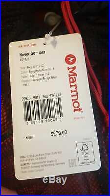 Marmot Never Summer Down Sleeping Bag 0 Degrees Regular LZ