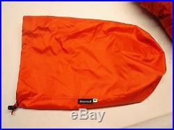 Marmot Never Summer Sleeping Bag 0 Degree Down LONG Right Zip /25325/