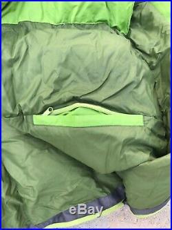 Marmot Never Winter Down Sleeping Bag, 30 degrees F, Green, Right-Z Regular
