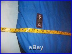 Marmot Pinnacle 15F 800 fp Goose Down Sleeping Bag Regular Left Zip Excellent