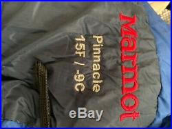 Marmot Pinnacle 15 degree down sleeping bag