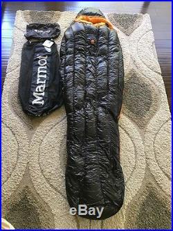 Marmot Plasma 0 Sleeping Bag Rare 900 Fill Regular Size NEW Mint Cond