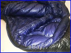 Marmot Plasma +15 900 fill Down Mummy Sleeping Bag Long Left Used