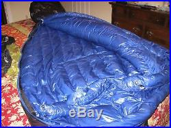 Marmot Plasma 15 degree Long Sleeping bag 900 Goose Down Fill Pertex Quantum