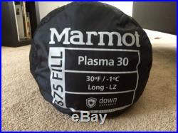 Marmot Plasma 30 Sleeping Bag- LONG Left Zip