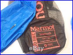 Marmot Sawtooth Sleeping Bag 15 Degree Down Long X-Wide/Left Zip /27451/