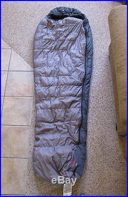 Marmot Talon Down sleeping bag 2 lbs ultralight- pristine condition