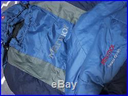 Marmot Trestles 15F/-9C Sleeping Bag, Right-Hand Zip, Blue & Gray, Camping Gear