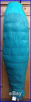 Marmot Women's Angel Fire 25 Degree Down Sleeping Bag Green Long Left Zip New