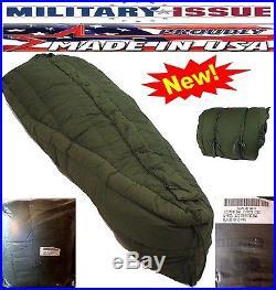 Military Issue Sleeping Bag +60F To -20F Deg Extreme Cold Weather USGI ECW NEW
