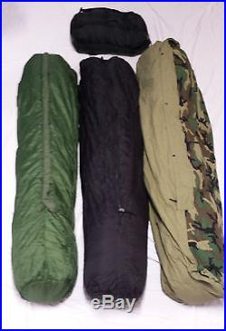 Military Modular 4-Piece Sleeping Bag System with Gortex Cover VG Condition