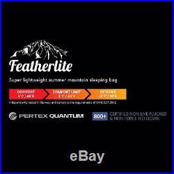 Montane Featherlite Black Outdoor Camping Hooded Down Sleeping Bag