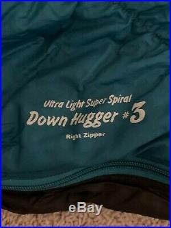 Montbell UL Super Spiral Down Hugger #3 30 Degree Down Sleeping Bag Free Ship