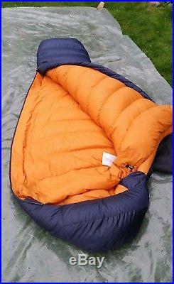Mountain Equipment Helium 800 Down Insulated 4-season Sleeping bag excellent