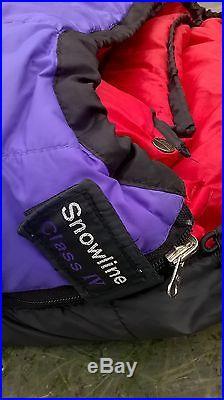 Mountain Equipment Snowline 750 Down 4-season sleeping bag excellent